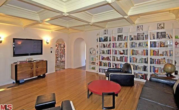 The living room in Rose McGowan's former home,...