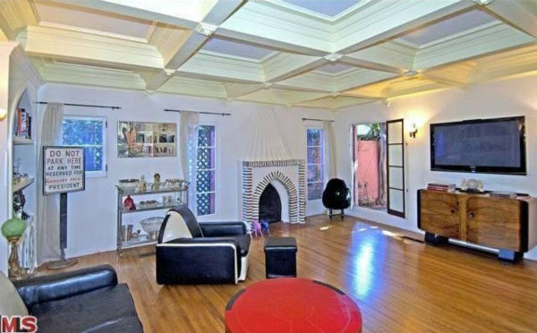 The living room in Rose McGowan&#39;s former home, located in the Loz Feliz neighborhood of Los Angeles, which was built in 1928 and has 4 bedrooms and 3 bathrooms. The Spanish-style home was sold for &#36;1.7 million in May 2011. <span class=meta>(MLS &#47; Realtor.com)</span>