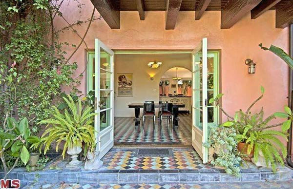 The dining room in Rose McGowan's former home,...