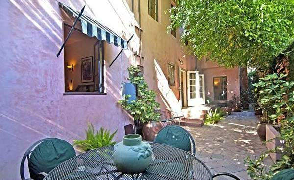 The outdoor patio Rose McGowan&#39;s former home, located in the Loz Feliz neighborhood of Los Angeles, which was built in 1928 and has 4 bedrooms and 3 bathrooms. The Spanish-style home was sold for &#36;1.7 million in May 2011. <span class=meta>(MLS &#47; Realtor.com)</span>