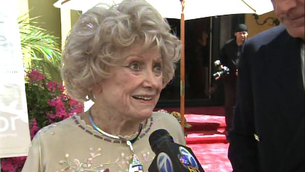 Phyllis Diller talks to OnTheRedCarpet.com at Zsa Zsa Gabor and Frederic Prinz von Anhalt&#39;s 25th wedding anniversary on August 14, 2011. <span class=meta>(OTRC Photo)</span>