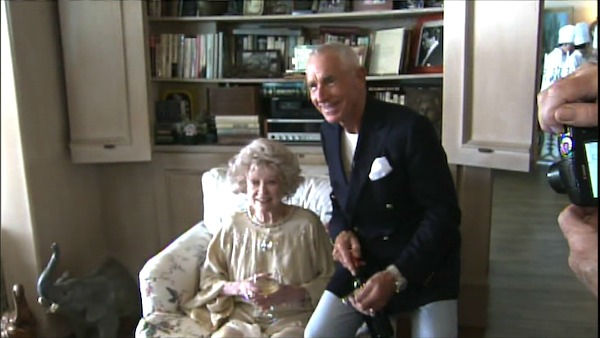 "<div class=""meta image-caption""><div class=""origin-logo origin-image ""><span></span></div><span class=""caption-text"">Frederic Prinz von Anhalt poses with Phyllis Diller at his 25th wedding anniversary party with Zsa Zsa Gabor on August 14, 2011 (OTRC Photo)</span></div>"