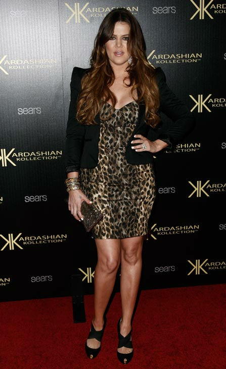 "<div class=""meta ""><span class=""caption-text "">Khloe Kardashian arrives at the Kardashian Kollection launch party in Los Angeles, Wednesday, Aug. 17, 2011. The Kardashian Kollection designed by the Kardashian sisters is available at Sears.  (AP Photo/ Matt Sayles)</span></div>"