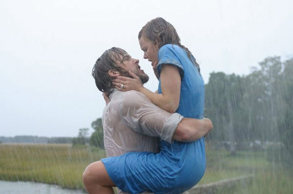 Ryan Gosling and Rachel McAdams appear in a scene from the 2004 film 'The Notebook.'