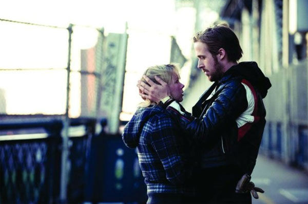 Ryan Gosling and Michelle Williams appear in a scene from the 2010 film 'Blue Valentine.'