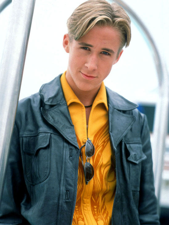 Ryan Gosling appears in a promotional photo from the television series 'Breaker High.' The series ran from 1997 to 1998. Gosling played Sean Stanley Hanlon.