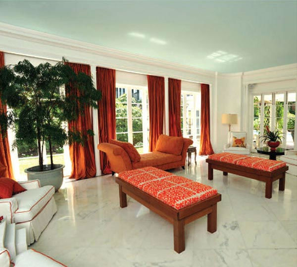 The terrace room in Taylor Swift's four-bedroom,...