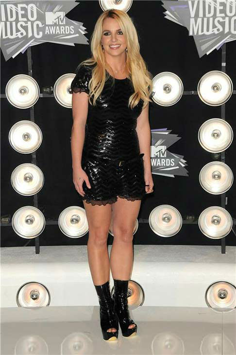 Britney Spears appears at the 2011 MTV Video Music Awards -- where the singer received the Michael Jackson Video Vanguard Award -- in Los Angeles, California on Aug. 28, 2011.  <span class=meta>(Kyle Rover &#47; startraksphoto.com)</span>