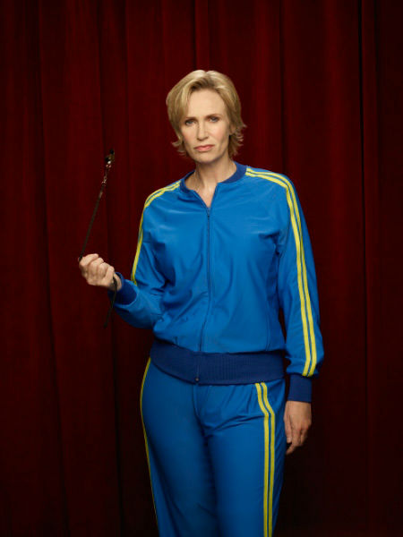 "<div class=""meta ""><span class=""caption-text "">Jane Lynch returns as Sue Sylvester in Season Three of 'Glee,' which premieres on Tuesday, September 20 at 8 p.m. ET on FOX. (FOX / Danielle Levitt)</span></div>"