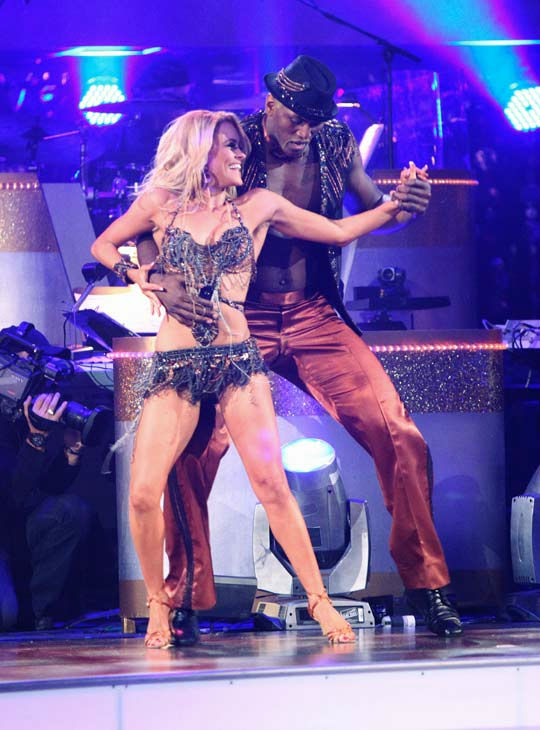 "<div class=""meta ""><span class=""caption-text "">Los Angeles Laker Metta World Peace a.k.a. Ron Artest and his partner Peta Murgatroyd received 14 out of 30 from the judges for their Cha Cha Cha on the season premiere of 'Dancing With The Stars.' (ABC Photo/ Adam Taylor)</span></div>"