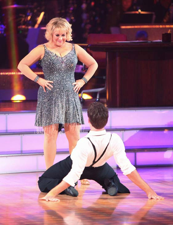 Television host Nancy Grace and her partner Tristan Macmanus received 16 out of 30 from the judges for their Cha Cha Cha on the season premiere of &#39;Dancing With The Stars.&#39; <span class=meta>(ABC Photo&#47; Adam Taylor)</span>