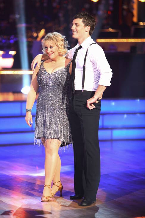 "<div class=""meta ""><span class=""caption-text "">Television host Nancy Grace and her partner Tristan Macmanus received 16 out of 30 from the judges for their Cha Cha Cha on the season premiere of 'Dancing With The Stars.' (ABC Photo/ Adam Taylor)</span></div>"