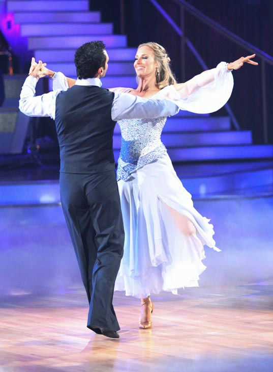 Singer Chynna Phillips and her partner Tony Dovolani received 22 out of 30 from the judges for their Viennese Waltz on the season premiere of &#39;Dancing With The Stars.&#39; <span class=meta>(ABC Photo&#47; Adam Taylor)</span>