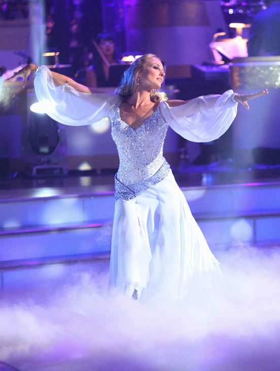 Singer Chynna Phillips and her partner Tony Dovolani received 22 out of 30 from the judges for their Viennese Waltz on the season premiere of 'Dancing With The Stars.'
