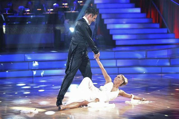 "<div class=""meta ""><span class=""caption-text "">Actor David Arquette and his partner Kym Johnson received 18 out of 30 from the judges for their Viennese Waltz on the season premiere of 'Dancing With The Stars.' (ABC Photo/ Adam Taylor)</span></div>"