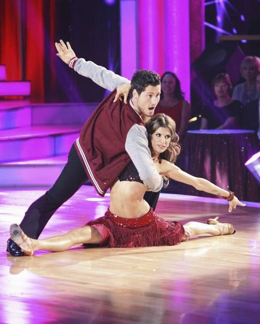 Italian model and actress Elisabetta Canalis and her partner Valentin Chmerkovskiy, brother of Maksim Chmerkovskiy, received 15 out of 30 from the judges for their Cha Cha Cha on the season premiere of &#39;Dancing With The Stars.&#39; <span class=meta>(ABC Photo&#47; Adam Taylor)</span>