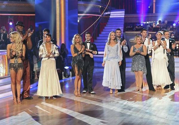 "<div class=""meta ""><span class=""caption-text "">The contestants of season 13 of 'Dancing With The Stars' are seen during the season premiere on September 19, 2011. (ABC Photo/ Adam Taylor)</span></div>"