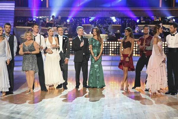 The contestants of season 13 of 'Dancing With The Stars' are seen during the season premiere on September 19, 2011.