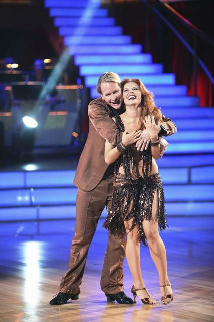 "<div class=""meta image-caption""><div class=""origin-logo origin-image ""><span></span></div><span class=""caption-text"">Television personality Carson Kressley and his partner Anna Trebunskaya received 17 out of 30 from the judges for their Cha Cha Cha on the season premiere of 'Dancing With The Stars.' (ABC Photo/ Adam Taylor)</span></div>"