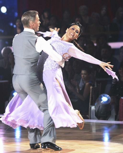 "<div class=""meta image-caption""><div class=""origin-logo origin-image ""><span></span></div><span class=""caption-text"">Talk show host and actress Ricki Lake and her partner Derek Hough received 20 out of 30 from the judges for their Viennese Waltz on the season premiere of 'Dancing With The Stars.' (ABC Photo/ Adam Taylor)</span></div>"