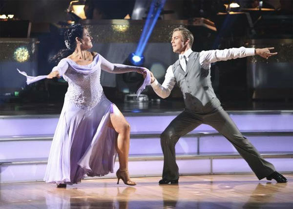 Talk show host and actress Ricki Lake and her partner Derek Hough received 20 out of 30 from the judges for their Viennese Waltz on the season premiere of &#39;Dancing With The Stars.&#39; <span class=meta>(ABC Photo&#47; Adam Taylor)</span>