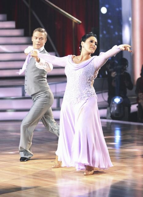 "<div class=""meta ""><span class=""caption-text "">Talk show host and actress Ricki Lake and her partner Derek Hough received 20 out of 30 from the judges for their Viennese Waltz on the season premiere of 'Dancing With The Stars.' (ABC Photo/ Adam Taylor)</span></div>"