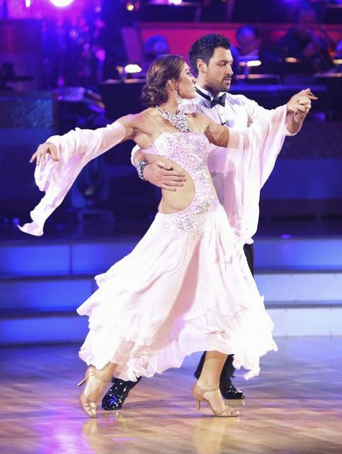 U.S. soccer star Hope Solo and her partner Maksim Chmerkovskiy received 21 out of 30 from the judges for their Viennese Waltz on the season premiere of &#39;Dancing With The Stars.&#39; <span class=meta>(ABC Photo&#47; Adam Taylor)</span>