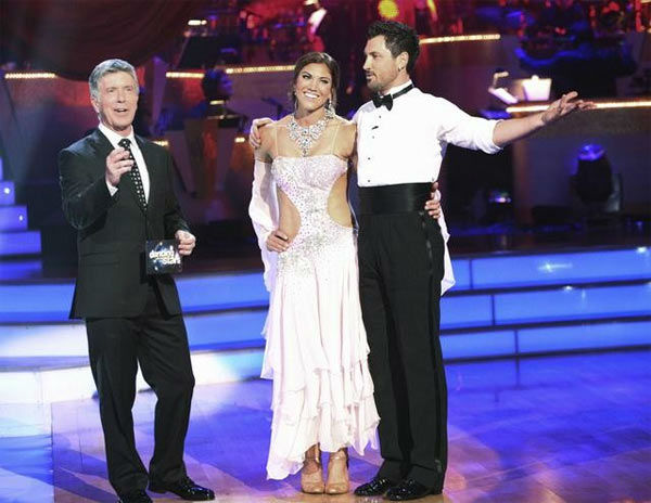 "<div class=""meta image-caption""><div class=""origin-logo origin-image ""><span></span></div><span class=""caption-text"">U.S. soccer star Hope Solo and her partner Maksim Chmerkovskiy received 21 out of 30 from the judges for their Viennese Waltz on the season premiere of 'Dancing With The Stars.' (ABC Photo/ Adam Taylor)</span></div>"