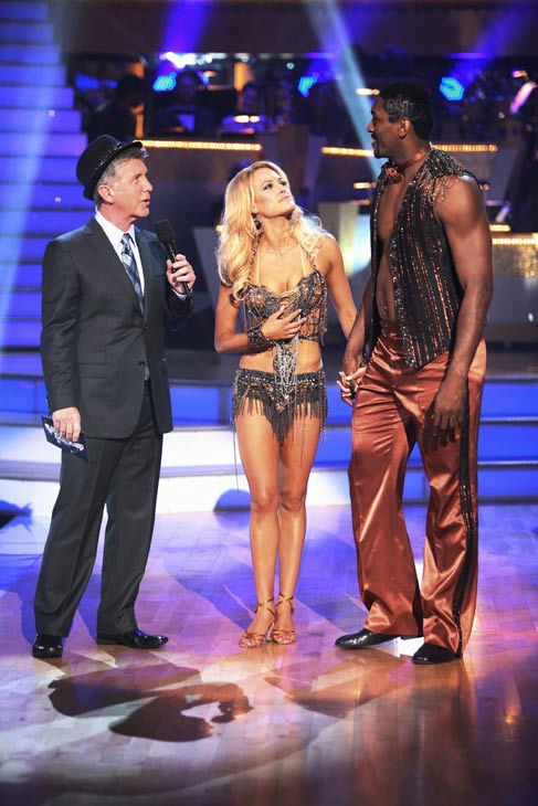 "<div class=""meta image-caption""><div class=""origin-logo origin-image ""><span></span></div><span class=""caption-text"">Los Angeles Laker Metta World Peace a.k.a. Ron Artest and his partner Peta Murgatroyd react to being eliminated from ABC's hit ballroom dancing competition series on Tuesday, September 20, 2011. The pair received 14 out of 30 from the judges for their Cha Cha Cha on the season premiere of 'Dancing With The Stars.'  (ABC Photo/ Adam Taylor)</span></div>"