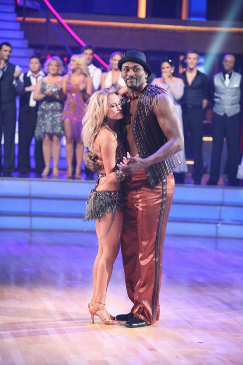 Los Angeles Laker Metta World Peace a.k.a. Ron Artest and his partner Peta Murgatroyd react to being eliminated from ABC's hit ballroom danci