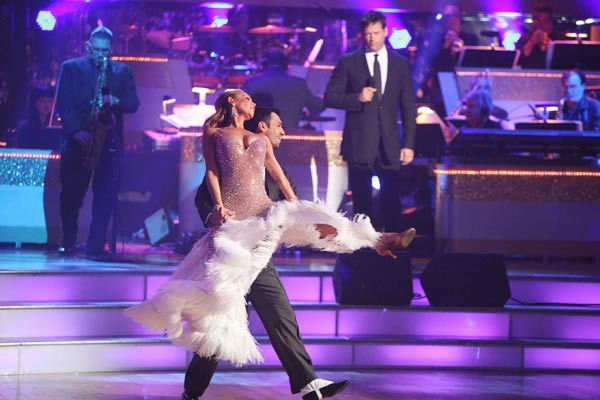 "<div class=""meta ""><span class=""caption-text "">Harry Connick Jr. hit the 'Dancing With The Stars' stage to perform 'On a Clear Day You Can See Forever' on 'Dancing With The Stars: The Results Show' on Tuesday, September 20, 2011. The song is from his upcoming Broadway musical revival by the same title. The show is opening in previews at the St. James Theater in November 2011.  (Pictured: KYM JOHNSON and TONY DOVOLANI) (ABC Photo/ Adam Taylor)</span></div>"