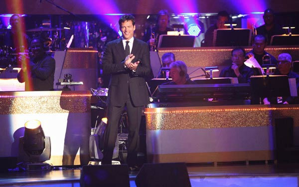 Harry Connick Jr. hit the &#39;Dancing With The Stars&#39; stage to perform &#39;On a Clear Day You Can See Forever&#39; on &#39;Dancing With The Stars: The Results Show&#39; on Tuesday, September 20, 2011. The song is from his upcoming Broadway musical revival by the same title. The show is opening in previews at the St. James Theater in November 2011.  <span class=meta>(ABC Photo&#47; Adam Taylor)</span>