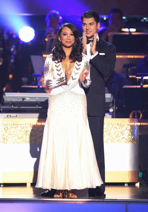 &#39;Keeping Up With The Kardashians&#39; star Rob Kardashian and his partner Cheryl Burke await possible elimination on &#39;Dancing With The Stars: The Results Show&#39; on Tuesday, September 20, 2011. The pair received 16 out of 30 from the judges for their Viennese Waltz on the season premiere of &#39;Dancing With The Stars.&#39; <span class=meta>(ABC Photo&#47; Adam Taylor)</span>