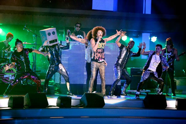 Pop group LMFAO perform