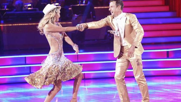 Actor David Arquette and his partner Kym Johnson received 18 out of 30 from the judges for their Jive on the September 26 episode of &#39;Dancing With The Stars.&#39; <span class=meta>(ABC Photo)</span>