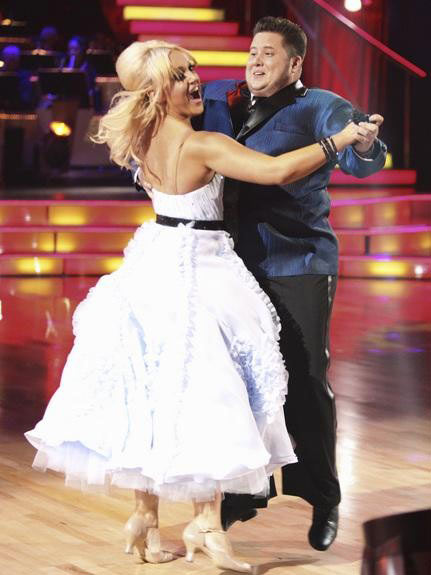 "<div class=""meta ""><span class=""caption-text "">LGBT activist Chaz Bono and his partner Lacey Schwimmer received 17 out of 30 from the judges for their Quickstep on the September 26 episode of 'Dancing With The Stars.' (ABC Photo)</span></div>"