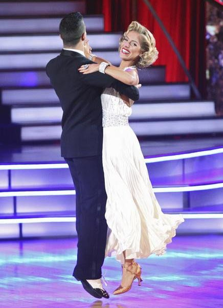 "<div class=""meta ""><span class=""caption-text "">Reality Star Kristin Cavallari and her partner Mark Ballas received 22 out of 30 from the judges for their Quick Step on the September 26 episode of 'Dancing With The Stars.' (ABC Photo)</span></div>"