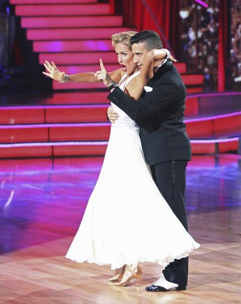 Reality Star Kristin Cavallari and her partner Mark Ballas received 22 out of 30 from the judges for their Quick Step on the September 26 episode of &#39;Dancing With The Stars.&#39; <span class=meta>(ABC Photo)</span>