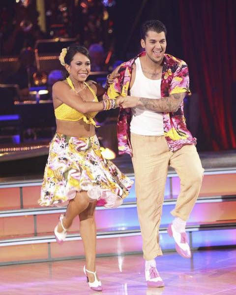 'Keeping Up With The Kardashians' star Rob Kardashian and his partner Cheryl Burke received 21 out of 30 from the judges for their Jive on the September 26 episode of 'Dancing With The Stars