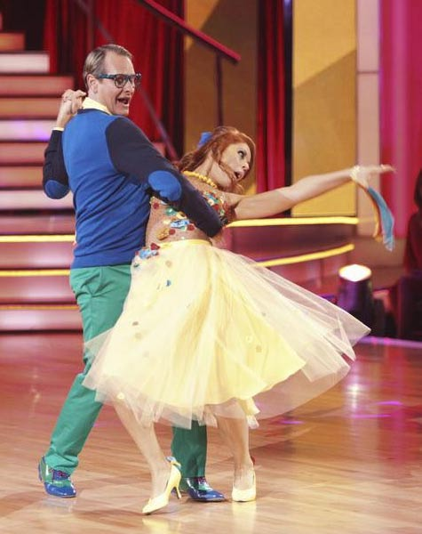 Television personality Carson Kressley and his partner Anna Trebunskaya received 18 out of 30 from the judges for their Quickstep on the September 26 episode of &#39;Dancing With The Stars.&#39; <span class=meta>(ABC Photo)</span>