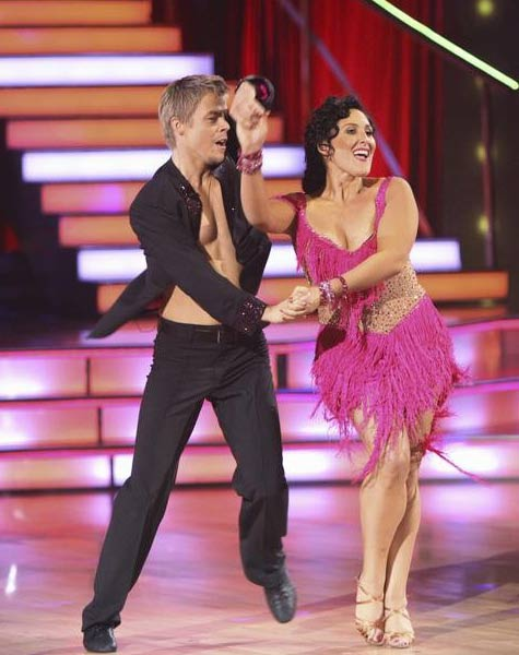 "<div class=""meta image-caption""><div class=""origin-logo origin-image ""><span></span></div><span class=""caption-text"">Talk show host and actress Ricki Lake and her partner Derek Hough received 20 out of 30 from the judges for their Jive on the September 26 episode of 'Dancing With The Stars.' (ABC Photo)</span></div>"