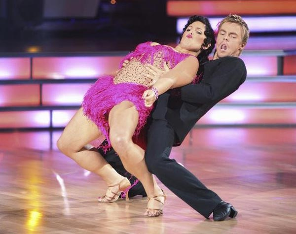 Talk show host and actress Ricki Lake and her partner Derek Hough received 20 out of 30 from the judges for their Jive on the September 26 episode of 'Dancing With The Stars.'