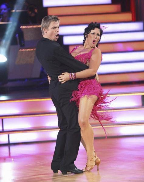 "<div class=""meta ""><span class=""caption-text "">Talk show host and actress Ricki Lake and her partner Derek Hough received 20 out of 30 from the judges for their Jive on the September 26 episode of 'Dancing With The Stars.' (ABC Photo)</span></div>"