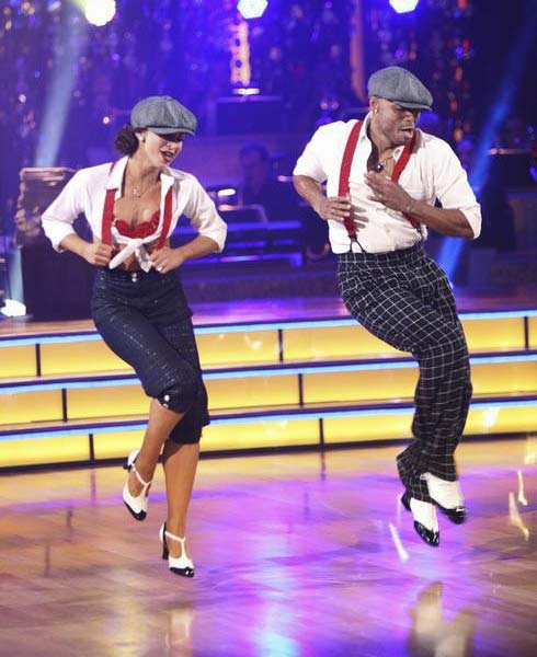 &#39;All My Children&#39; actor and Iraq War veteran J.R. Martinez and his partner Karina Smirnoff received 22 out of 30 from the judges for their Jive on the September 26 episode &#39;Dancing With The Stars.&#39; <span class=meta>(ABC Photo)</span>