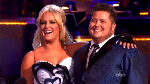 LGBT activist Chaz Bono and his partner Lacey Schwimmer appear on 'Dancing With The Stars' on Monday, Sept. 26, 2011, for the 13th season's second round of performances.