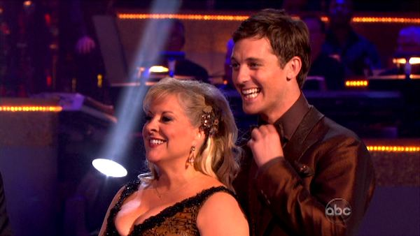 "<div class=""meta ""><span class=""caption-text "">Television host Nancy Grace and her partner Tristan Macmanus appear on 'Dancing With The Stars' on Monday, Sept. 26, 2011, for the 13th season's second round of performances. (ABC Photo)</span></div>"