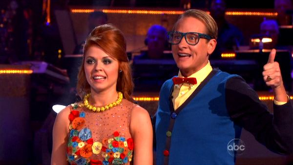 Television personality Carson Kressley and his partner Anna Trebunskaya appear on &#39;Dancing With The Stars&#39; on Monday, Sept. 26, 2011, for the 13th season&#39;s second round of performances. <span class=meta>(ABC Photo)</span>