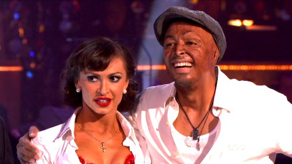 "<div class=""meta ""><span class=""caption-text "">'All My Children' actor and Iraq War veteran J.R. Martinez and his partner Karina Smirnoff appear on 'Dancing With The Stars' on Monday, Sept. 26, 2011, for the 13th season's second round of performances. (ABC Photo)</span></div>"