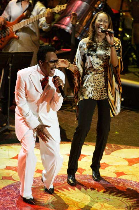 In this May 23, 2007 file photo, Jessy Dixon, left, performs with Yolanda Adams in Washington.