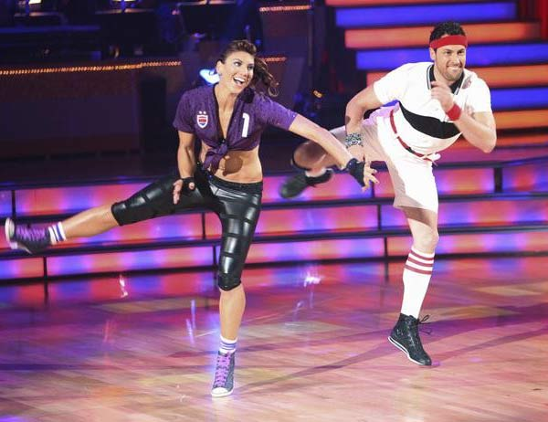 U.S. soccer star Hope Solo and her partner Maksim Chmerkovskiy received 16 out of 30 from the judges for their Jive on the Septem